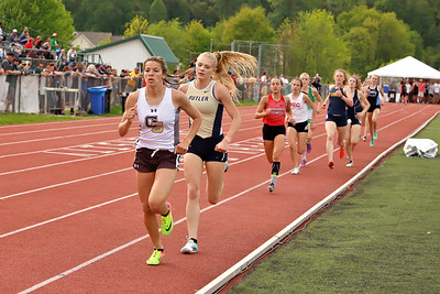 Liz Simms of Butler finished second to Malia Anderson of Greensburgh Salem in 800 meter. Seb Foltz/Butler Eagle