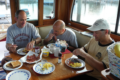 A good breakfast keeps the crew happy and avoids mutiny