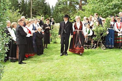Bryllup på Farbergshagen gård.