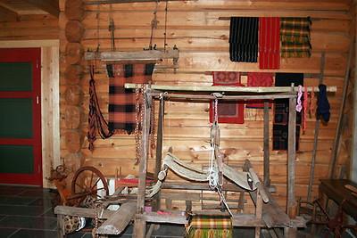 Gammel vevstol fra driftsbygget på Farbergshagen