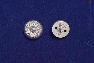 Sølvknapp til Numedalsbunad med Filigranmønster