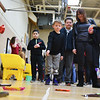 Braiden Robichaud, 8, of Reingold Elementary participates in a coin toss for candy at the annual Bunny Breakfast on Saturday at Reingold Elementary School in Fitchburg.  SENTINEL & ENTERPRISE JEFF PORTER