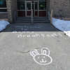 The entrance to the annual Bunny Breakfast on Saturday at Reingold Elementary School in Fitchburg.  SENTINEL & ENTERPRISE JEFF PORTER