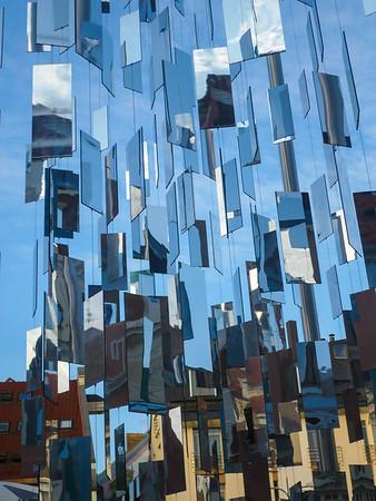 Reflexion in Bulding in Riga, Latvia