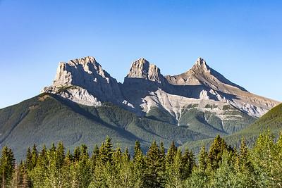 Three Sisters, Rocky Mountains, Alberta, Canada