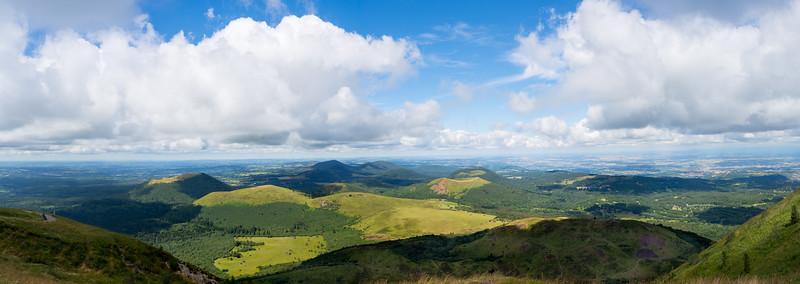 View from Puy de Dôme, France