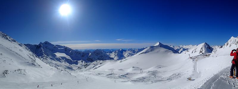 Skiing in Stubaital, Austria