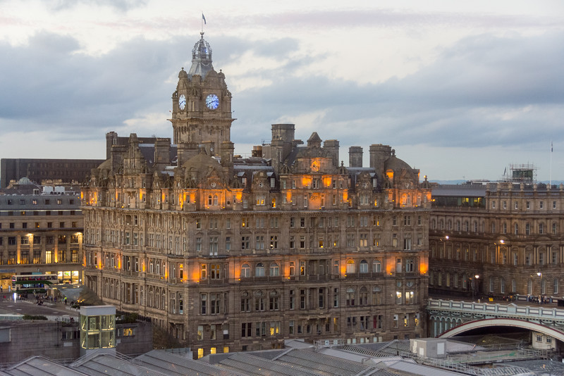 Historic Balmoral Hotel in Edinburgh, Scotland