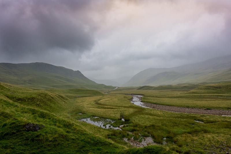 Scottish Landscape on a Rainy Day