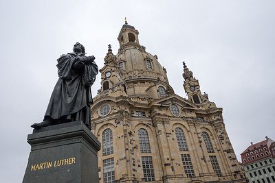 Martin Luther Statue in Front of Frauenkirche, Dresden, Germany