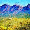 Bunyeroo Valley, Flinders Ranges, SA. (Painted, High res version.)