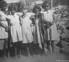1957 Younger girls Gogo school. Patsy O'Riley, Mabel Laurel