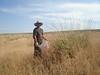 Bret Jones collecting wild rye.