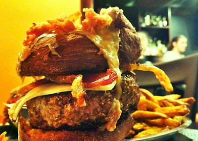 Maple Bacon Doughnut Burger