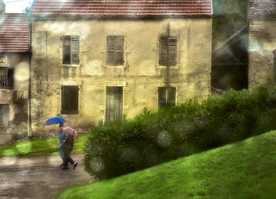 Rainy Day in Volgny Burgundy