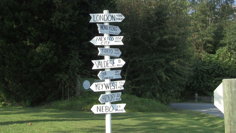 Directional Sign at Greenway - Morganton, nC