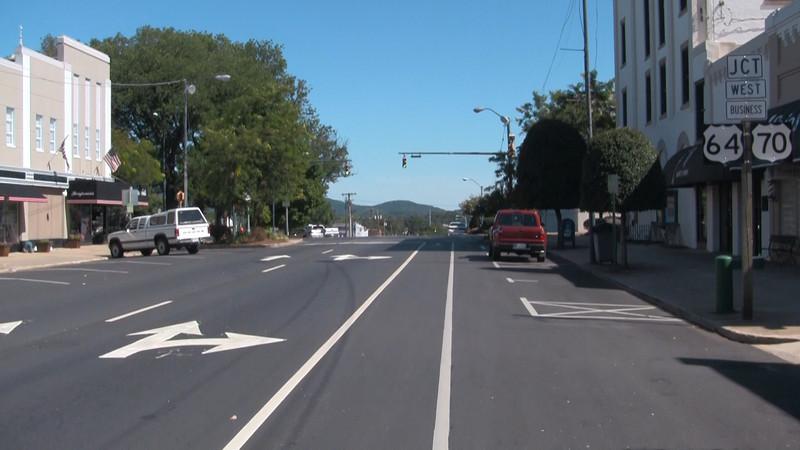 Bike Lanes Downtown Morganton