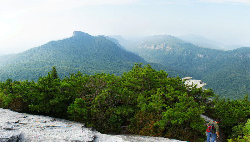 Table Rock and Linville Gorge from Hawks Bill Mountain Summit