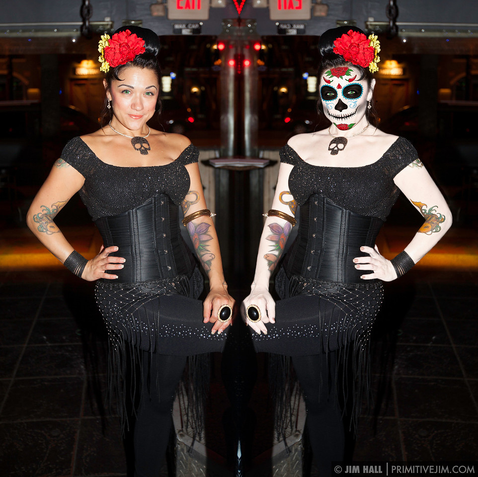 """""""Espejo de los muertos""""  A little photo-manipulation by me for the Day of the Dead art show at Green Room Nightclub Model: Holly Peno"""