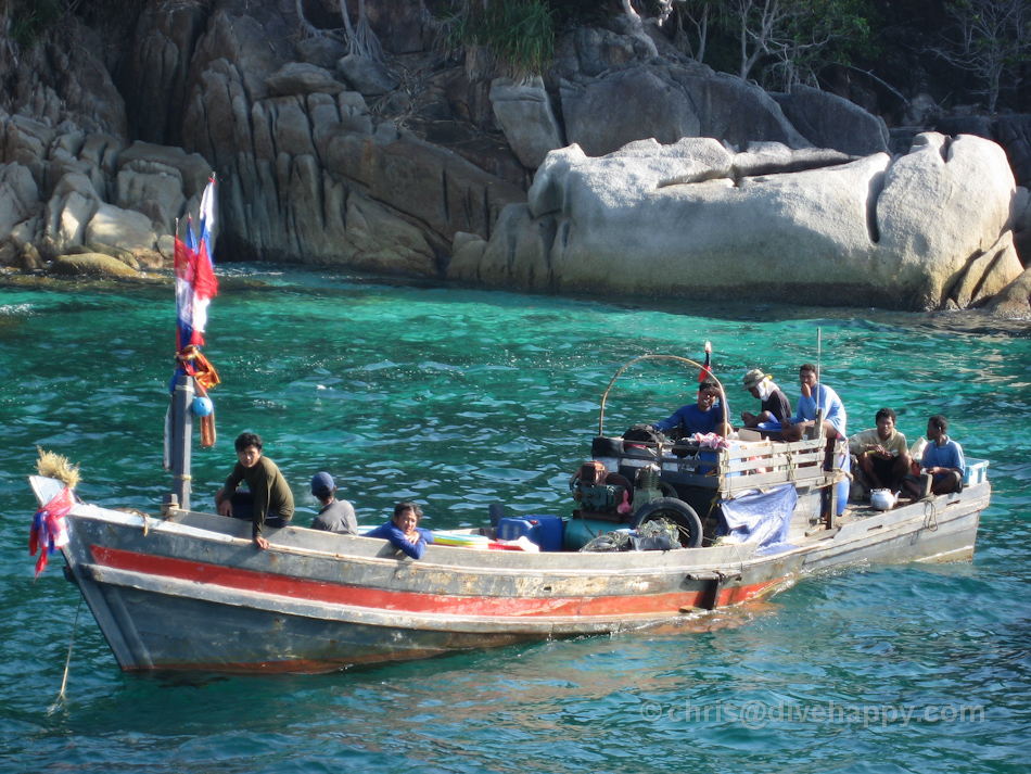 Burmese Fishing Boat, Pygmy Palm Point, Mergui Archipelago, Burma
