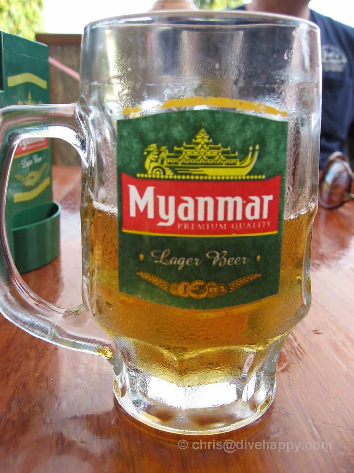 Myanmar beer in Kawthaung, Burma