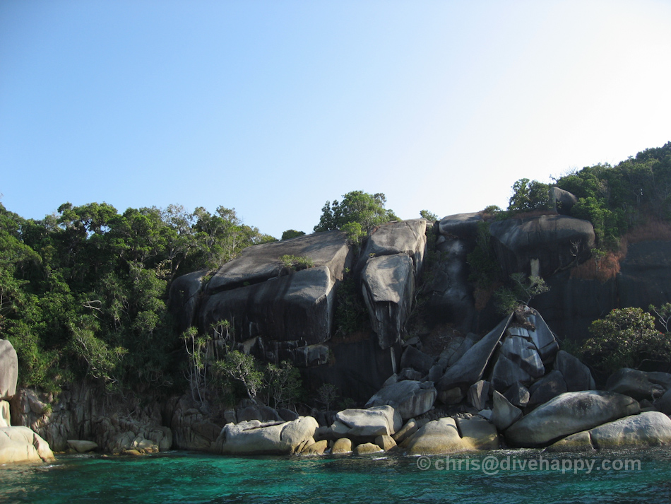 Boulders at Pygmy Palm Point, Mergui Archipelago, Burma