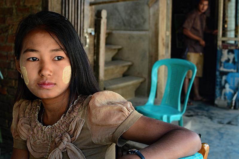 Girl on a Chair - Mrauk U, Myanmar