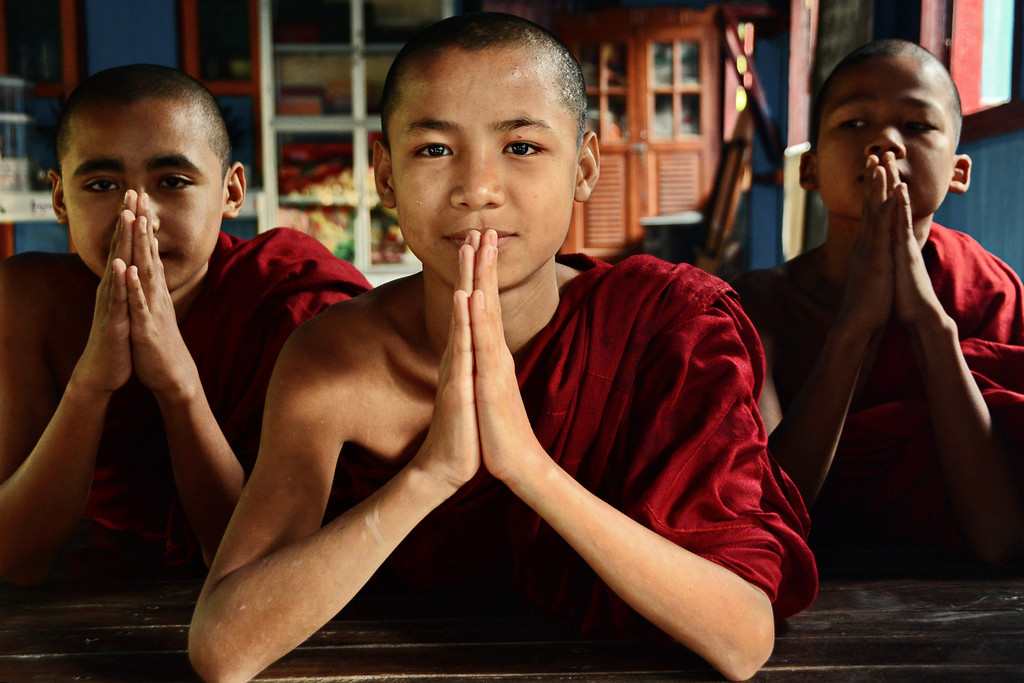 Novice Monks - Sittwe