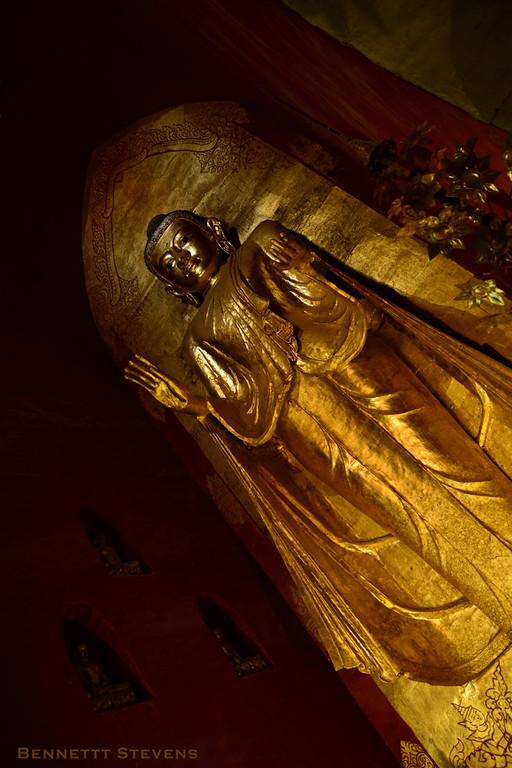 Angle on the Buddha - Ananda Temple, Bagan
