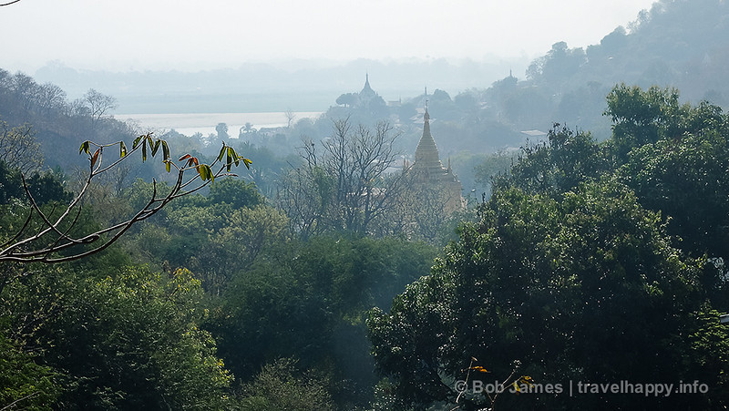A view of Sagaing's temples from U Ponya Shin Paya