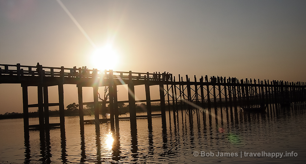 Amarapura's U Bein Bridge at Sunset