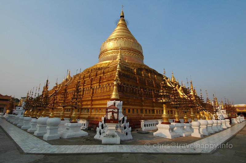 Schwezigon Paya Temple, Bagan, Burma