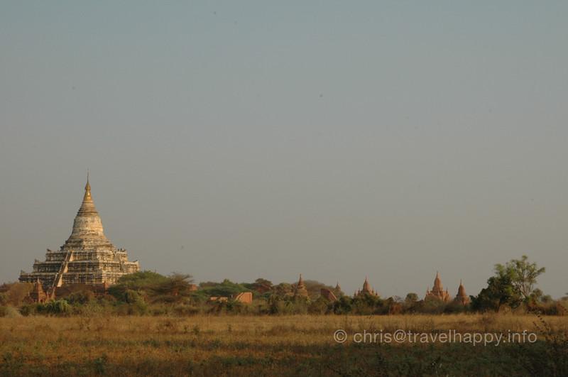 Schwesandaw Paya Temple, Bagan, Burma