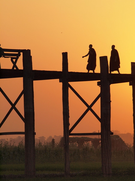 U Bein Bridge at sunset [photo credit: Kevin Revolinski]