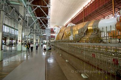 Giant Reclining Buddha, Chaukhtatgyi Temple, Yangon