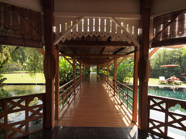 Bridge over the pool, Governor's Residence hotel, Yangon