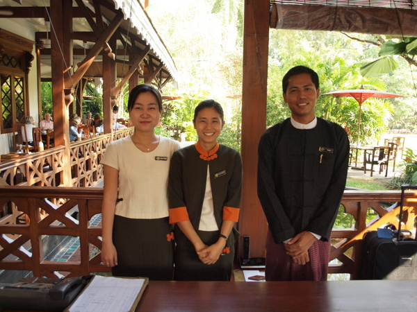 Friendly staff, Governor's Residence hotel, Yangon