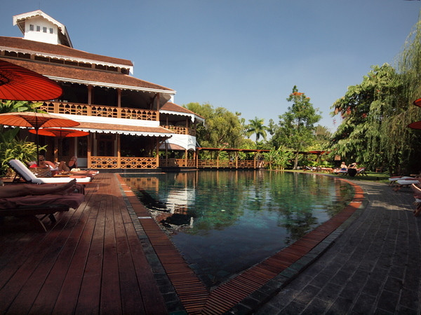 Pool and hotel view, Governor's Residence hotel, Yangon
