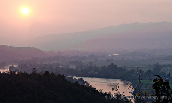The view from Sunset Hill as another day comes to an end in Hsipaw