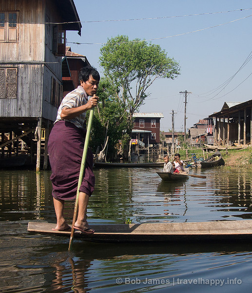 On Inle Lake, if you want to go anywhere, you go by boat