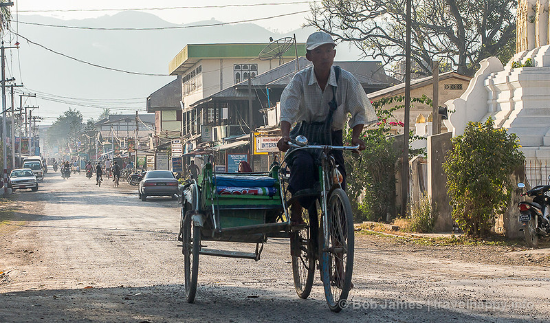 "A look at ""downtown"" Nyaungshwe, the gateway to Inle Lake"