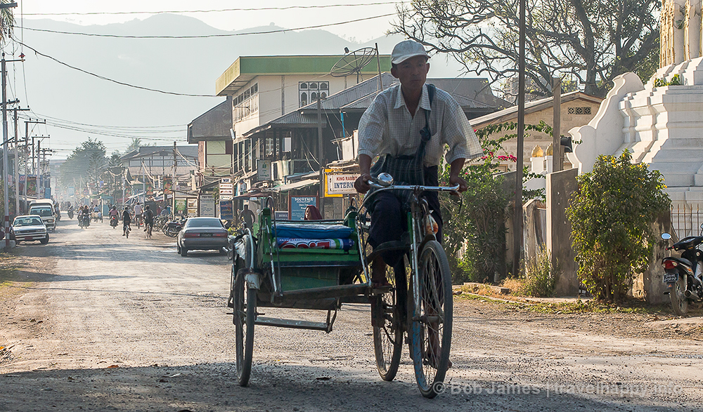 """A look at """"downtown"""" Nyaungshwe, the gateway to Inle Lake"""