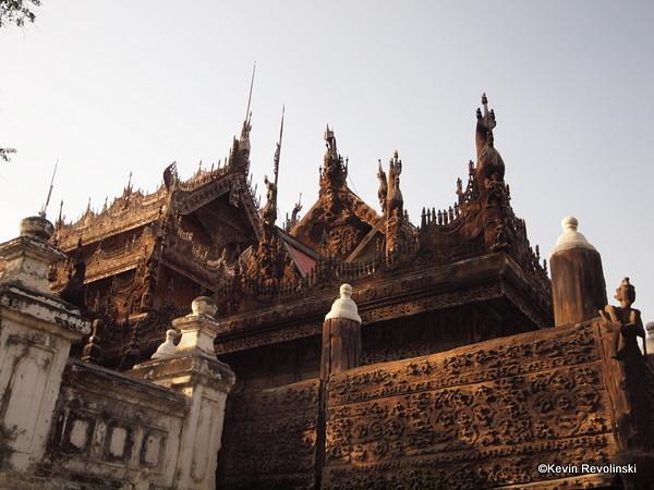 Shwenandaw Kyaung (Teak Temple) Mandalay (photo credit: Kevin Revolinski)