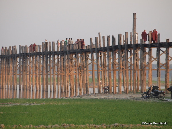 U Bein Bridge, Mandalay  (photo credit: Kevin Revolinski)