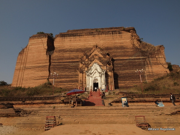 Mingun's Unfinished Pagoda, outside Mandalay (photo credit: Kevin Revolinski)