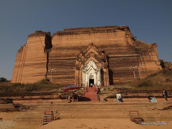 Mingun's Unfinished Pagoda, outside Mandalay (photo credit: Kevin Revolinski)