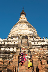 Visitors at Shwesandaw Pagoda, Bagan
