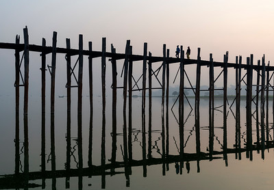 U Bein Bridge near Mandalay