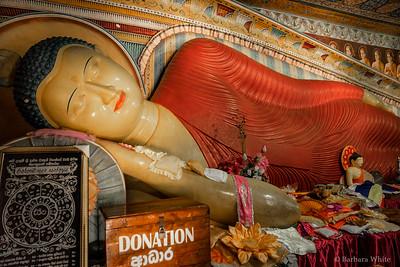 Red Reclining Buddha