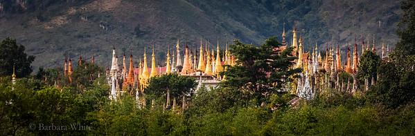 Shan Stupas at Indein